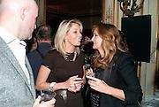 NADJA SWAROVSKI; LUCY YEOMANS, Glenda Bailey's Bazaar Greatest Hits book party. Savile Club. Brook St. London. 18 September 2011. <br /> <br />  , -DO NOT ARCHIVE-© Copyright Photograph by Dafydd Jones. 248 Clapham Rd. London SW9 0PZ. Tel 0207 820 0771. www.dafjones.com.