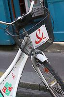 France Telecom logo on a bicycle, Paris.