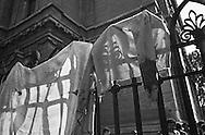Roma 9 ottobre 1982.Attentato alla Sinagoga di Roma da parte di un commando palestinese.L'attentato avvenne di sabato mattina, alla fine dello Shemin&igrave; Atzeret che chiude la festa di Sukkot.L'attentato caus&ograve; la morte di Stefano Gay Tach&egrave; di soli due anni ed il ferimento di 37 persone. Una maglia sporca di sangue appesa sui cancelli della Sinagoga.Rome October 9, 1982.<br />  Attack on the synagogue in Rome by a commando palestinian. Attack was on a Saturday morning, at the end of Shemini Atzeret, which closes the holiday Sukkot.  Attack caused the death of Stefano Gay Tache of  only two years and the wounding of 37 people. <br /> A sweater stained with blood, hung on the railing of the Synagogue  attacked of  commando palestinian