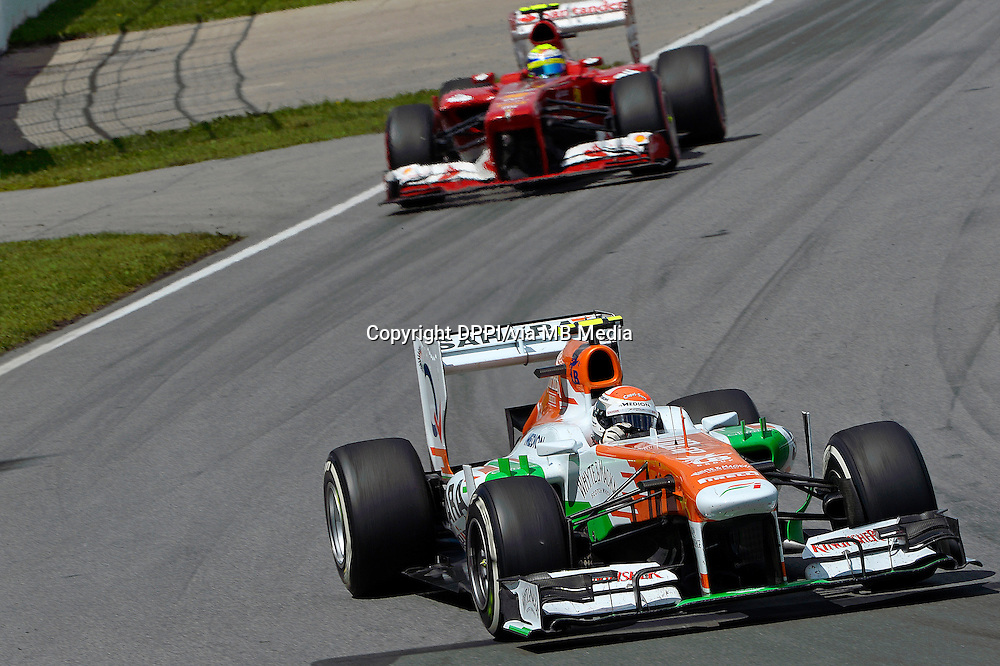 MOTORSPORT - F1 2013 - GRAND PRIX OF CANADA - MONTREAL (CAN) - 07 TO 09/06/2013 - PHOTO ERIC VARGIOLU / DPPI SUTIL ADRIAN (GER) - FORCE INDIA VJM06 - ACTION