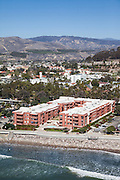 Paseo De Playa Condos on Ventura Beach Aerial Stock Photo