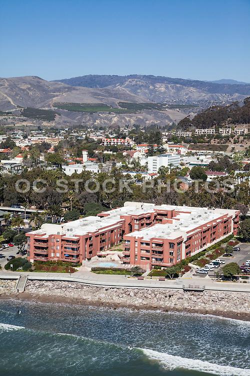 Paseo De Playa Condos on Ventura Beach Aerial Stock Photo