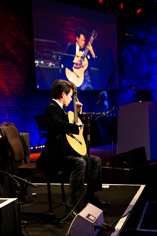 Guitarist Sean Shibe<br /> Winner of the RPS Music Award for Young Artists<br /> Photographed at the RPS Music Awards, London, Wednesday 9 May<br /> Photo credit required:  Simon Jay Price