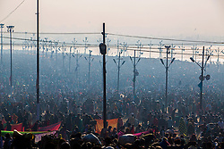 Allahabad, India - 35-40 million people were said to have converged on the holy Ganga to bathe away their sins on February 10, 2013.
