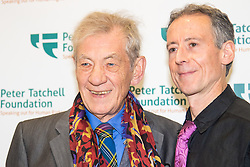 Old Town Hall, Stratford, London - 28 November 2015. Singers Marc Almond, Ronan Parke, Heather Peace and Asifa Lahore headline the Peter Tatchell Foundation's inaugural Equality Ball, a fundraiser for the foundation's LGBTI and human rights work, with guest of honour Sir Ian McKellen  joined by Michael Cashman. PICTURED: Michael Cashman and Peter Tatchell (R)  //// FOR LICENCING CONTACT: paul@pauldaveycreative.co.uk TEL:+44 (0) 7966 016 296 or +44 (0) 20 8969 6875. ©2015 Paul R Davey. All rights reserved.