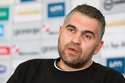 Boris Denic of Slovenia Men Handball team at press conference during 3rd day of 10th EHF European Handball Championship Serbia 2012, on January 17, 2012 in Hotel Srbija, Vrsac, Serbia.  (Photo By Vid Ponikvar / Sportida.com)