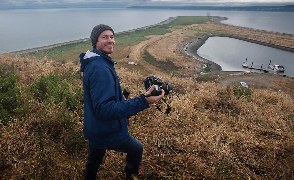 Marty Bluewater explores Protection Island.