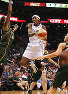 Aug 20, 2010; Phoenix, AZ, USA; Phoenix Mercury guard Sequoia Holmes  drives the ball against Seattle Storm during the first half in at US Airways Center.  Mandatory Credit: Jennifer Stewart-US PRESSWIRE