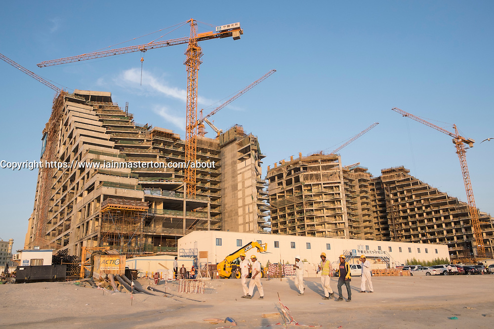 Construction of new luxury apartment building in Dubai United Arab Emirates