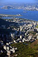 aerial view of flamengo in rio de janeiro brazil