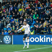 ANDORRA LA VELLA, ANDORRA. June 1.  Kylian Mbappe #10 of France celebrates after scoring his sides first goal during the Andorra V France 2020 European Championship Qualifying, Group H match at the Estadi Nacional d'Andorra on June 11th 2019 in Andorra (Photo by Tim Clayton/Corbis via Getty Images)