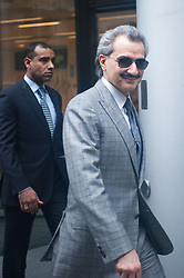 "Saudi Prince Alwaleed bin Talal Court Case,<br /> Saudi Prince Alwaleed bin Talal exits High Court. Consultant Daad Sharab claims the Prince who owns The Savoy hotel in London owes her around £6.5 million commission for the part she played in a 2005 Airbus deal. Prince Al-Waleed disputes her claim and denies that any agreement was made for a ""specific commission"",<br /> London, United Kingdom<br /> Tuesday, 2nd July 2013<br /> Picture by Piero Cruciatti / i-Images"