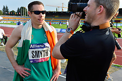 Jason Smyth, IRE being interviewed about his European Championship title win in the T13 100m Finals at the Berlin 2018 World Para Athletics European Championships