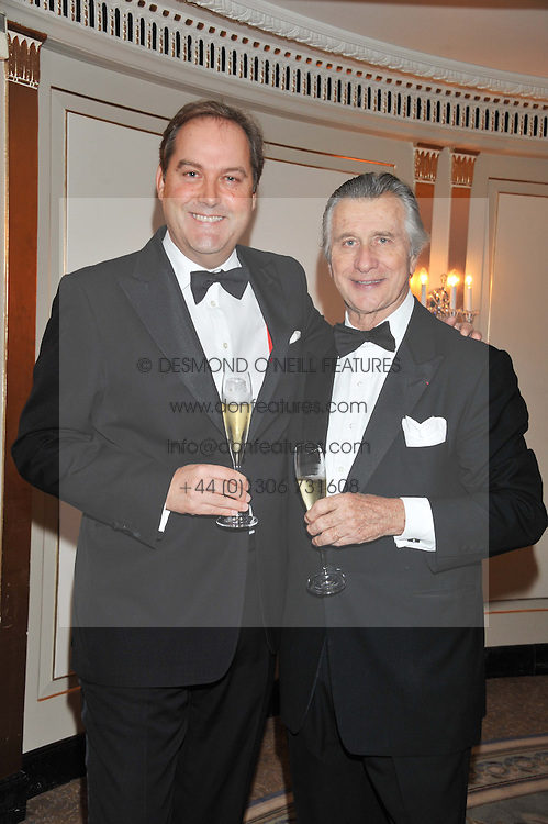 Left to right, the HON.HARRY HERBERT and MR ARNAUD BAMBERGER Executive Chairman Cartier UK at the 22nd Cartier Racing Awards held at The Dorchester, Park Lane, London on 13th November 2012.