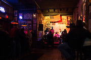 Vince Johnson and the Plantation Allstars band playing live in club in Beale Street famous for Rock and Roll and Blues, Memphis