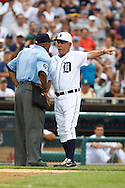 May 31, 2010: Umpire Laz Diaz (63) and Detroit Tigers' Manager Jim Leyland during the MLB baseball game between the Oakland Athletics and Detroit Tigers at  Comerica Park in Detroit, Michigan. Oakland defeated Detroit 4-1.