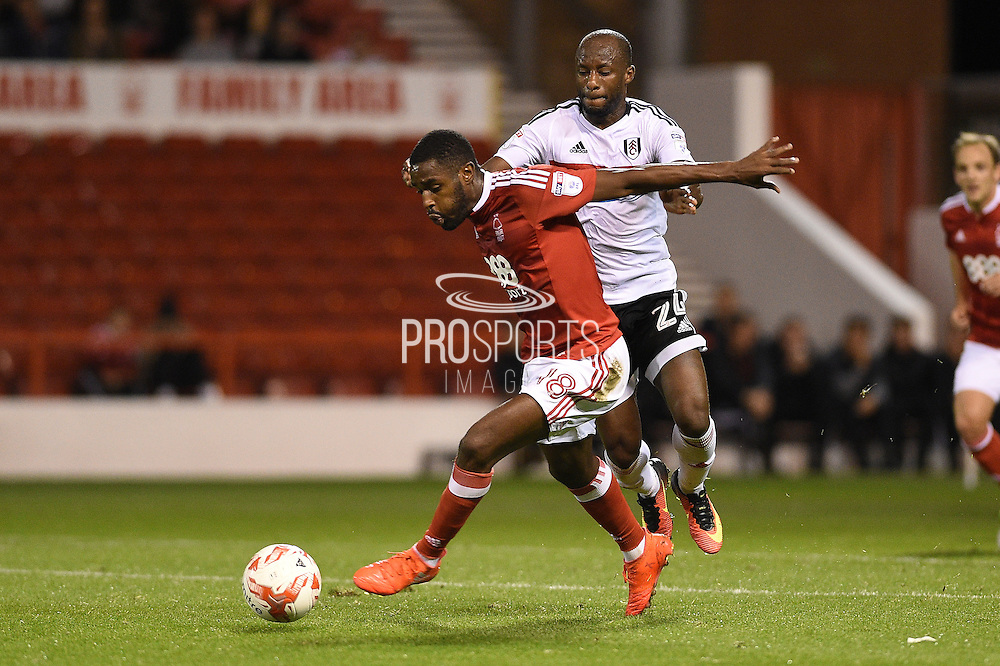 Nottingham Forest midfielder Mustafa Carayol (18) during the EFL Sky Bet Championship match between Nottingham Forest and Fulham at the City Ground, Nottingham, England on 27 September 2016. Photo by Jon Hobley.