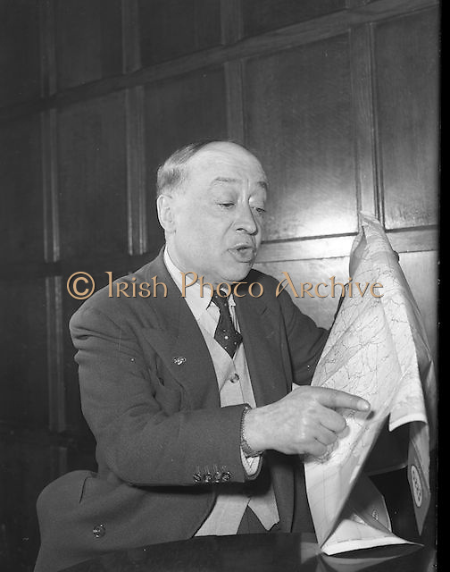 Jimmy O'Dea 1958 11/04 .Jimmy O'Dea WITH MAP.