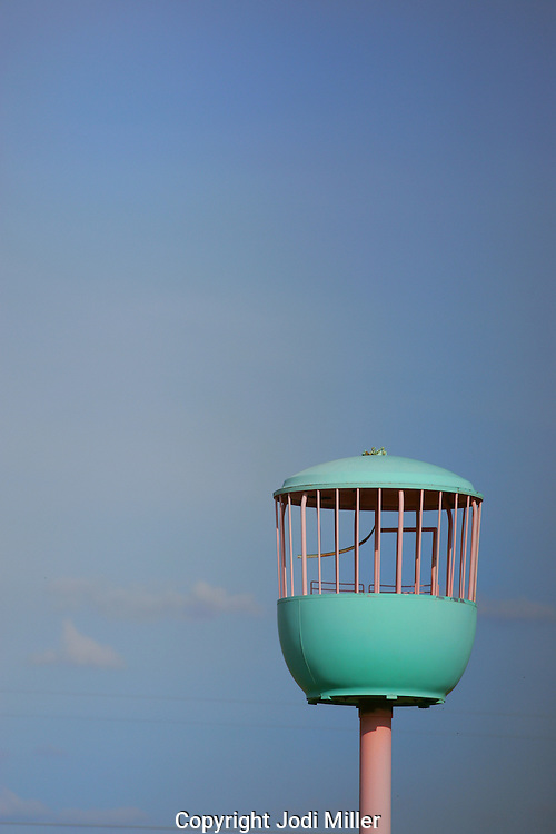 Canary cage high in the sky