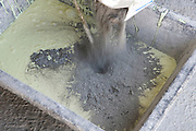 mixing of chemicals and cement for a waterproofing layer