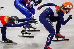 13-01-2018 DUI: ISU European Short Track Championships 2018 day 2, Dresden<br /> Relay vrouwen plaatsen zich niet voor de finale, Jorien ter Mors NED #141, Suzanne Schulting NED #7