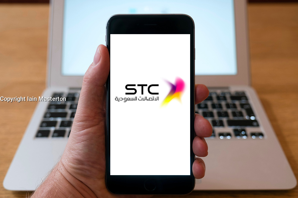 STC , Saudi Telecom logo on a iPhone smart phone
