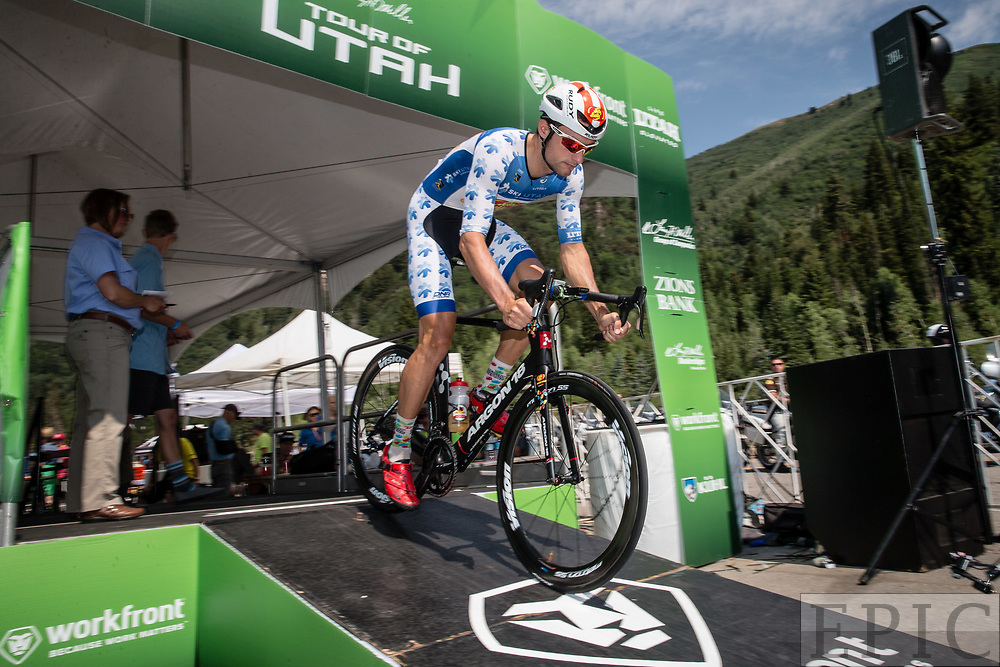 Cycling: Larry H. Miller Tour of Utah 2017 / Stage 3 - Jacob Rathe (Jelly Belly) mountain jersey. <br /> <br /> Big Cottonwood Canyon (9km) / TOU / ITT / Individual Time Trial / Utah  <br /> &copy; Jonathan Devich
