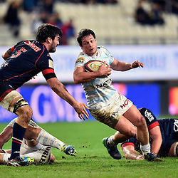 Mathias Marie of Grenoble, Henry Chavancy of Racing 92 during the French Top 14 match between Grenoble and Racing 92 at Stade des Alpes on March 4, 2017 in Grenoble, France. (Photo by Romain Lafabregue/Icon Sport)