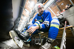 Aleksander Magovac during Ice Hockey match between National teams of Slovenia and Belarus at International tournament Euro ice hockey Challenge 2019, on February 9, 2019 in Ice Arena Bled, Slovenia. Photo by Peter Podobnik / Sportida