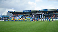 FODBOLD: De to hold før kampen i ALKA Superligaen mellem SønderjyskE og FC Helsingør den 28. juli 2017 på Sydbank Park i Haderslev. Foto: Claus Birch