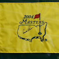 Thomas Wells | Buy at PHOTOS.DJOURNAL.COM<br /> The master flag owned by Pat Caldwell that is autgraphed by Arnold Palmer.