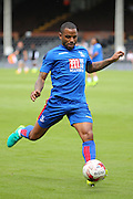 Crystal Palace attacker, Jason Puncheon (42) warming up during the Pre-Season Friendly match between Fulham and Crystal Palace at Craven Cottage, London, England on 30 July 2016. Photo by Matthew Redman.