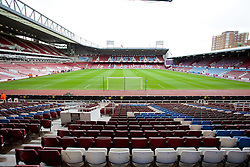 LONDON, ENGLAND - Sunday, April 6, 2014: A general view of West Ham United's Upton Park Stadium before the Premiership match against Liverpool. (Pic by David Rawcliffe/Propaganda)