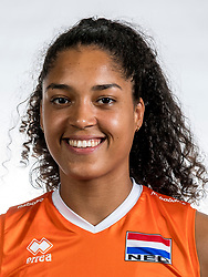 22-05-2017 NED: Nederlands volleybalteam vrouwen, Utrecht<br /> Photoshoot met Oranje vrouwen seizoen 2017 / Celeste Plak #4