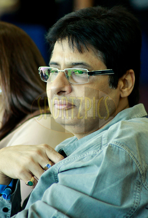 Bollywood Producer Vashu Bhagnani  during match 28 of the the Indian Premier League ( IPL) 2012  between The Mumbai Indians and the Kings X1 Punjab held at the Wankhede Stadium in Mumbai on the 22nd April 2012..Photo by Sandeep Shetty/IPL/SPORTZPICS.