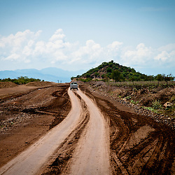 South out of Konso the dirt road shows signs of the new highway but where are the workers?