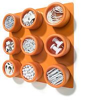 soho spices orange wall rack