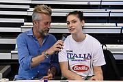 Giorgio Pomponi, Cecilia Zandalasini<br /> Nazionale Femminile Senior Amichevole<br /> FIP 2017<br /> Latina, 28/05/2017<br /> Foto Ciamillo-Castoria / GiulioCiamillo