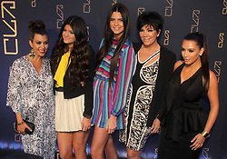 (L-R) Kourtney Kardashian, Kylie Jenner, Kendall Jenner, Kris Jenner and Kim Kardashian arriving for the Grand Opening of Scott Disick's RYU restaurant in The Meatpacking District in New York City, NY, USA on April 23, 2012. Scott Disick has teamed up with nightlight impresario Chris Reda to introduce the Meatpacking District's hottest new restaurant, RYU that will offer Japanese-inspired cuisine and world class cocktails in a chic dining space. Photo by Charles Guerin/ABACAPRESS.COM    317673_030 New York City Etats-Unis United States