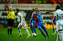 Crystal Palace Forward Cameron Jerome (ENG) in action - Photo mandatory by-line: Rogan Thomson/JMP - 07966 386802 - 02/03/2014 - SPORT - FOOTBALL - Liberty Stadium, Swansea -  Swansea City v Crystal Palace - Barclays Premier League.