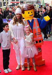 (L to R) Junior Andre, Katie Price and Princess Andre  attends The Lego Movie VIP film screening of CGI adventure, starring some of Lego's most popular figures, which features the voices of Elizabeth Banks, Chris Pratt, Will Arnett and Morgan Freeman, at Vue West End, London, United Kingdom. Sunday, 9th February 2014. Picture by Nils Jorgensen / i-Images.<br /> File Photo - Katie Price is to divorce husband Kieran Hayler after claiming he has been having an affair with her best friend. Photo filed Wednesday 7th May 2014.