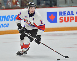 Andrei Svechnikov of the Barrie Colts represents Team Or r in the 2018 Sherwin-Williams CHL / NHL Top Prospects Game held in Guelph,ON on Thursday January 25. Photo by Terry Wilson / CHL Images.