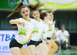 Cheeleaders perform during friendly basketball match between National teams of Slovenia and Australia, on August 3, 2015 in Arena Tri lilije, Lasko, Slovenia. Photo by Vid Ponikvar / Sportida