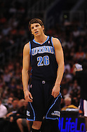 Mar. 19 2010; Phoenix, AZ, USA; Utah Jazz guard Kyle Korver (26) during the first half at the US Airways Center.  The Suns defeated the Jazz 110-100. Mandatory Credit: Jennifer Stewart-US PRESSWIRE.