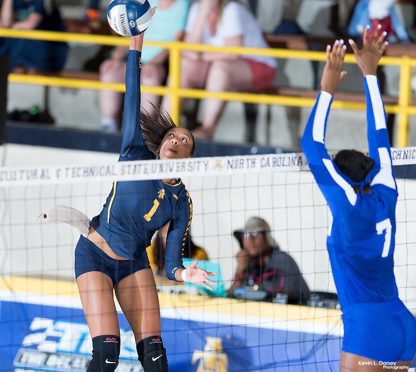 2016 A&T Volleyball vs Hampton