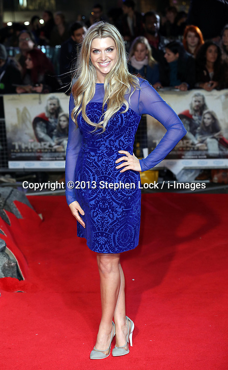 GMTV presenter Anna Williamson  arriving for the premiere of Thor: The Dark World, in London, Tuesday, 22nd October 2013. Picture by Stephen Lock / i-Images