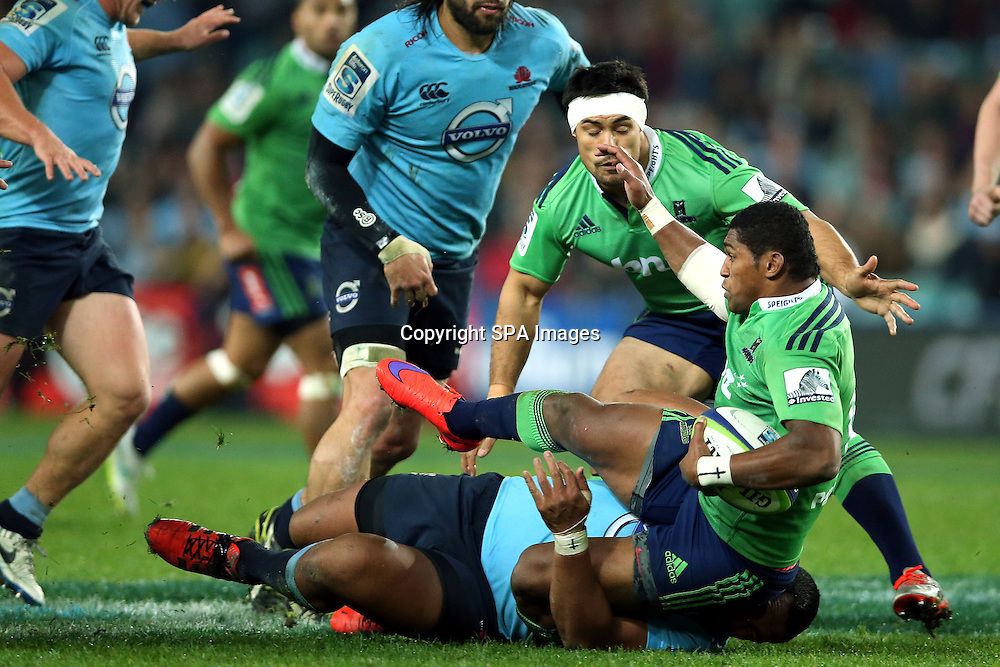 Waisake Naholo, NSW Waratahs v Otago Highlanders Semi Final. Sport Rugby Union Super Rugby Domestic Provincial. Allianz Stadium SFS. 27 June 2015. Photo by Paul Seiser/SPA Images
