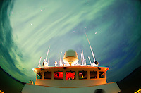 Aurora Borealis above the National Geographic Sea Bird in Stephens Passage in Southeast Alaska.