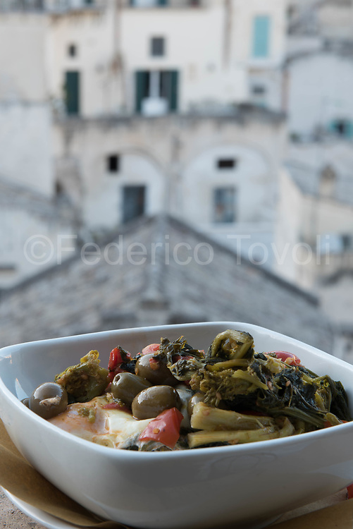 Traditional food at the Terrazzino restaurant