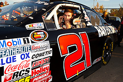 ROSEVILLE, CA - OCTOBER 13: Michael Self, driver of the #21 Rockwell/Golden Gate Meat Chevrolet sits in his car during qualifying for the NASCAR K&N Pro Series West Toyota/NAPA 150 at the All American Speedway on October 13, 2012 in Roseville, California. (Photo by Jason O. Watson/Getty Images for NASCAR) *** Local Caption *** Michael Self